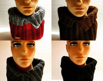 CROCHET PATTERN -  Crochet Cowl Scarf Pattern