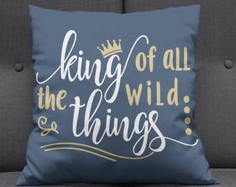 Where The Wild Things Are Nursery Decor, Where The Wild Things Are Cushion, Wild Things Nursery, Kids Room Decor, Boys Room, Kids Room, Home