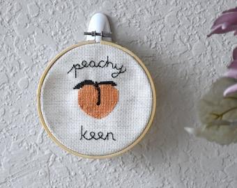 Peachy Keen Cross Stitch