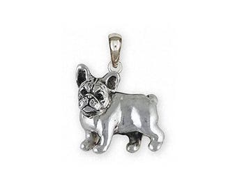 French Bulldog Jewelry Sterling Silver French Bulldog Pendant Handmade Frenchie Jewelry FR31-P