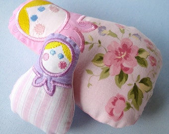 Embroidery Design for Machine Embroidery In-The-Hoop Stuffed Matryoshka - Babushka Doll 4x4 and 5x7