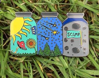 Summer Camp Jars Pin