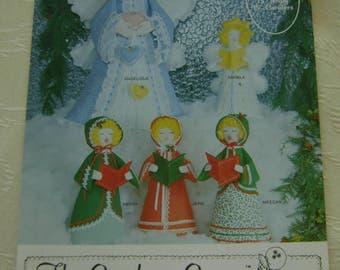 "Pattern, Crafts, ""Hark the Herald Angels"" Soft Sculptures - Gingham Goose 1981"