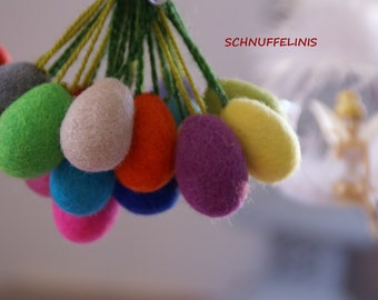 Felted Eggs - , Felted eggs - Needle Felt CHOOSE your COLOR -Ready to ship, 100% pure felt wool