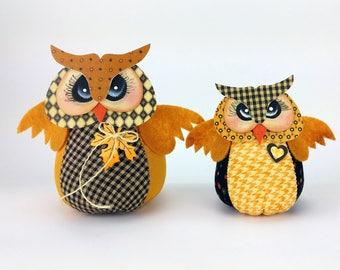 Tiny Owl Dolls - Set of two
