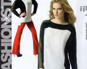 FREE US SHIP McCalls 6798 Top Pullover Bias Seams Pattern Size 4/14 4 6 8 10 12 14  Bust 29 30 32 34 36 New Out of Print Easy