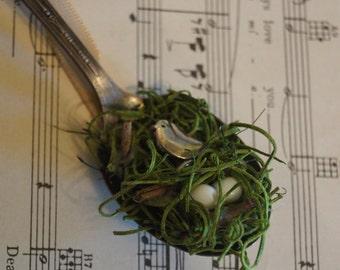 Vintage Bird Nest Spoon