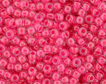 10/20/30g TOHO seed beads 11/0 size  Luminous Neon Pink TR-11-978 Kumihimo Beadweaving Beading Crochet Jewelry Bright Pink