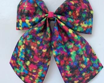 Rainbow Sparkly bow