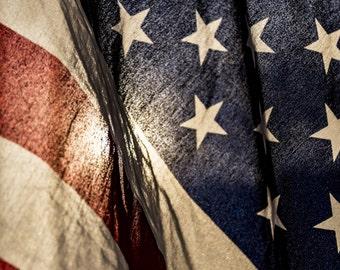 Grunge American Flag 4th of July Backdrop (HD4-AD-003)