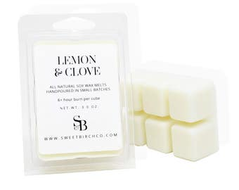 Lemon Wax Melts - Lemon and Clove Scented Candle Melts - Citrus Soy Melts - Lemon Tarts - Housewarming Gift
