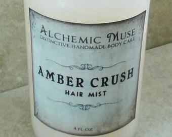 Amber Crush - Hair Mist - Detangler & Styling Primer - Amber Resins, Patchouli, Bourbon Vanilla