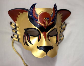 Made to Order - Egyptian Warrior Goddess, Sekhmet Lioness Leather Mask