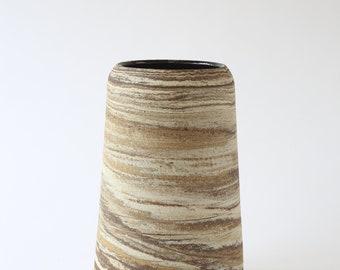 large ceramic marbled stoneware vase
