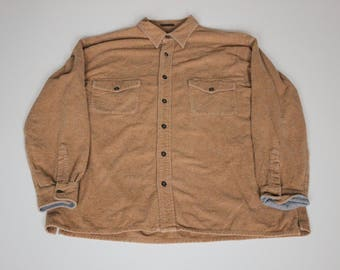 "Vintage St. John's Bay ""Chamois Cloth"" Button Down Shirt Size Large (Tall)"