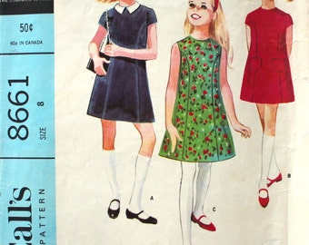 Sweet Girl's Dress Size 8 McCall's 8661
