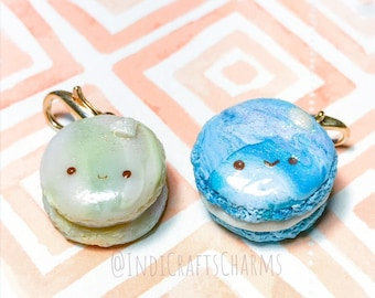 Diamond and Ocean macaron charms