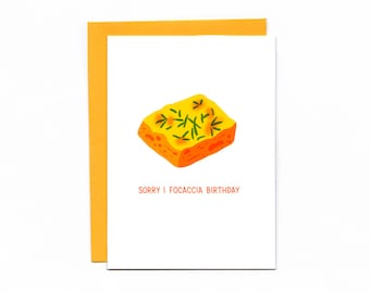Belated Birthday - Happy Birthday card - pun card - funny card - bread puns