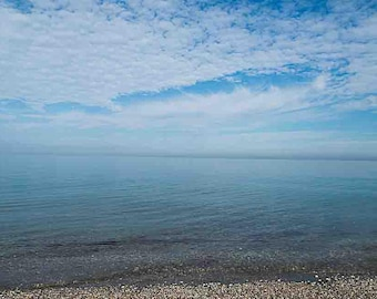 Sky blue beach Photo - Landscape Photography - Nature Prints - Wall Arts - Nature Postors - Travel Photography