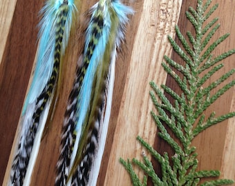 Lightness of Being - Long Feather Earrings - One of a Kind - Colorado Feathers