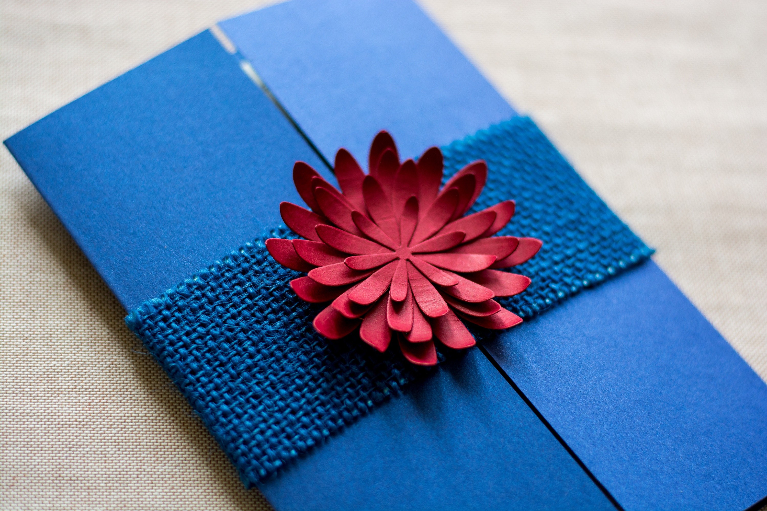 Nice White And Royal Blue Wedding Invitations Component ...