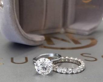 Diamond Ring,18k Gold Diamond Engagement Ring,2 Carat Engagement Ring,2.5 Carat Wedding Band,Big Diamond Ring,Wedding Band ,Free Shipping