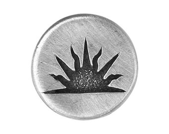 2 Sunrise 7/8 inch ( 23 mm ) Pewter Metal Buttons Antique Silver Color