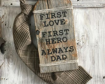 Dad gift - first love - first hero - father gift - dad birthday - father birthday gift - gift for dad - my hero - dad is my hero