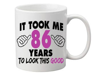 86 Years Old Birthday Mug Happy Birthday Gift Birthday Coffee Mug Coffee Cup Born in 1931 Personalized Mug ALL AGES AVAILABLE