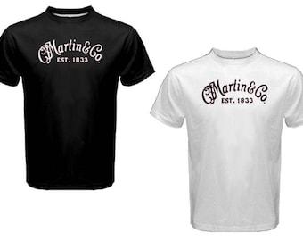 New C.F. MARTIN & CO Guitar String - Custom T Shirt - Black or White Tees S-2XL