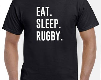 Rugby Shirt-Eat Sleep Rugby T Shirt Rugby Gift Men Women