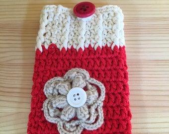 Crochet Mobile phone case, handmade.