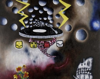 Galactic Beats, Limited Edition Print on Canvas- 2 of 3