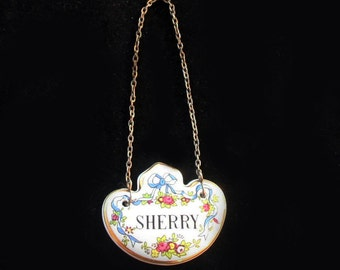 Crown Staffordshire | Bone China | Sherry Decanter Label | Two available