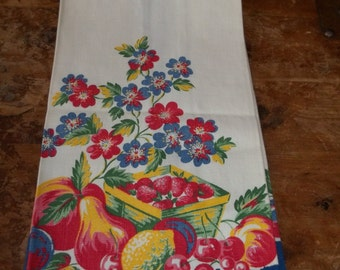 Vintage linen Fruit towel