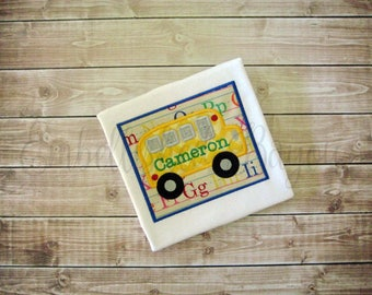 Personalized School Bus T-shirt for Boys or Girls