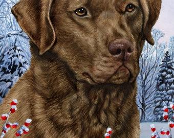 Dog Breed Winter Berries Garden Flags.