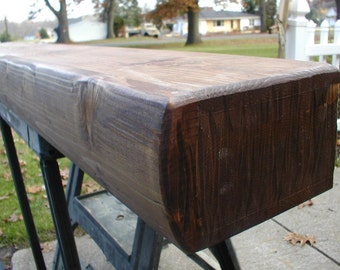 "60"" Rustic Log Fireplace Mantel"