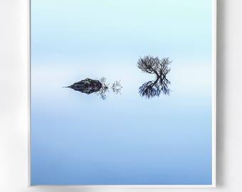 Blue Minimalist Art Photography, minimalism, large blue canvas, modern, home decor, wall art, livingroom decor, living room decor, pale blue