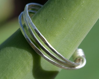 Patina Wire Wrapped Ring, Sterling Silver Ring, Wire Ring, Jewelry,Customized