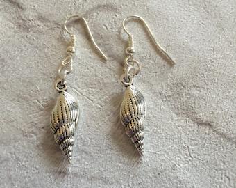 Shell Earrings, Silver Earrings, Shell Jewellery, Sterling Silver, SeaShell Charms, Beach Jewellery, Girls Earrings.