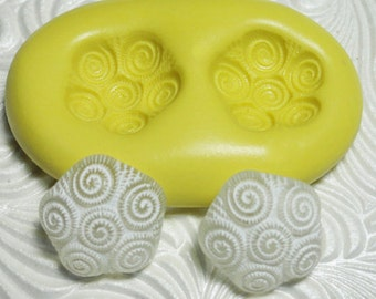 SWIRL CAB Flexible Silicone Rubber Push Mold for Resin Wax Fondant Clay Ice