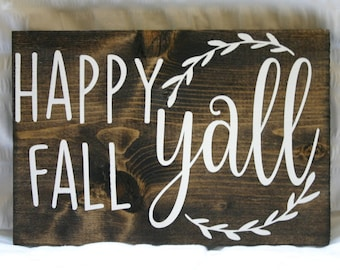 Happy Fall Yall! {Fall Decor Wooden Sign}