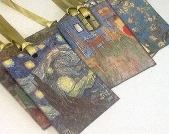 9 Vincent Van Gogh Gift/Thank You Tags
