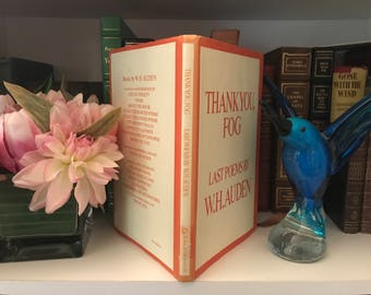 1974 First Edition of W H Auden's Thank You, Fog