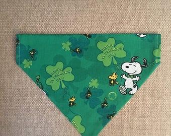 Snoopy & Woodstock Bandana/St. Patrick's Day/Over the Collar Bandana