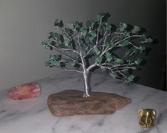 Baum-Skulptur Baum auf Kristall Baum des Lebens Draht