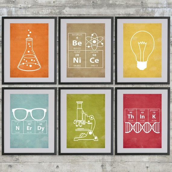 Science Nursery Art Set Of 6 A3 Instant Download Printables