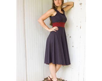 Sleeveless Athena Stretch Hemp Dress - Organic Clothing Made to Order - Choose Your Color