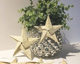 Origami Star Ornamental Stars Paper Star Embellishments - Wedding Birthday Graduation Decorations  QTY 25